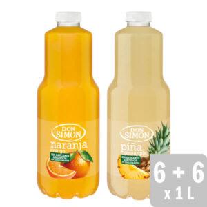 Néctar Naranja + Néctar Piña 12 uds. x 1L